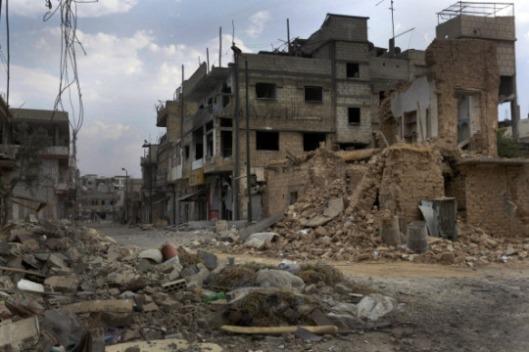 bombardamento strade di siria