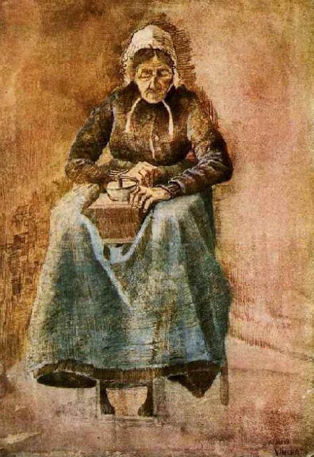 1881 - Donna che macina caffe